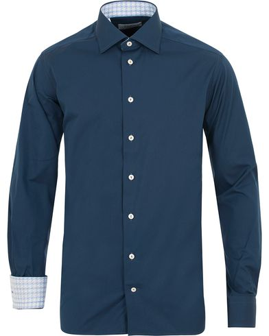 Eton Contemporary Fit Contrast Shirt Navy i gruppen Tøj / Skjorter / Formelle skjorter hos Care of Carl (14268911r)