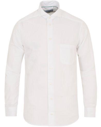 Eton Slim Fit Flannel Shirt White i gruppen Tøj / Skjorter hos Care of Carl (14269711r)