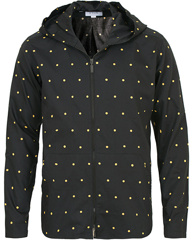 Eton The Hacienda Collection Slim Hooded Shirt Jacket Black i gruppen Tøj / Skjorter / Casual skjorter hos Care of Carl (14270311r)