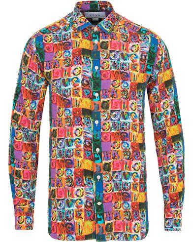 Eton The Hacienda Collection Slim Printed Shirt Multi i gruppen Tøj / Skjorter hos Care of Carl (14270411r)