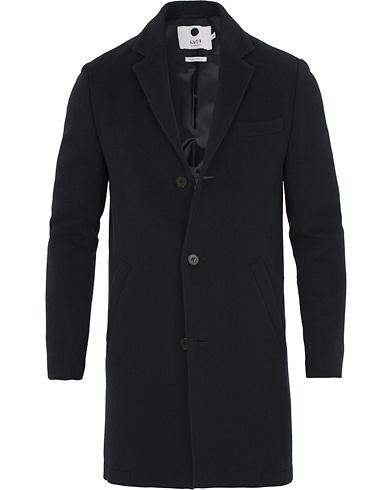 NN07 Aaron Wool Coat Navy i gruppen Klær / Jakker hos Care of Carl (14288811r)