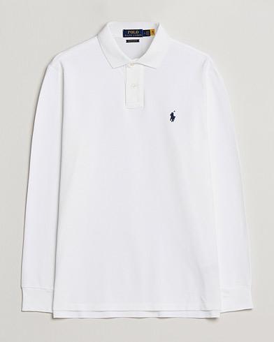 Polo Ralph Lauren Core Fit Long Sleeve Polo White i gruppen Klær / Pikéer / Langermet piké hos Care of Carl (14316311r)