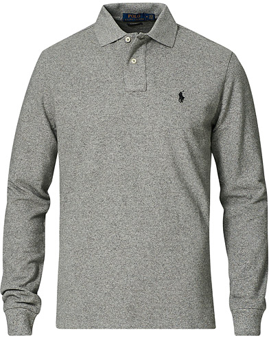 Polo Ralph Lauren Core Fit Long Sleeve Polo Canterbury Heather i gruppen Klær / Pikéer / Langermet piké hos Care of Carl (14316511r)