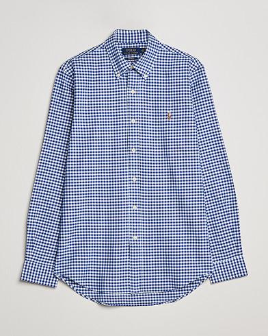 Polo Ralph Lauren Core Fit Oxford Gingham Shirt Blue/White i gruppen Klær / Skjorter / Casual / Oxfordskjorter hos Care of Carl (14317711r)