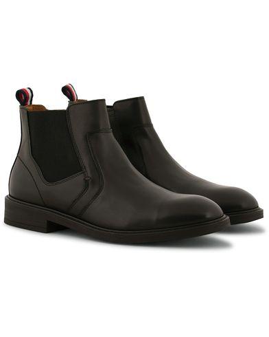 Tommy Hilfiger Rounder Zip Chelsea Boot Black Calf i gruppen Skor hos Care of Carl (14319011r)