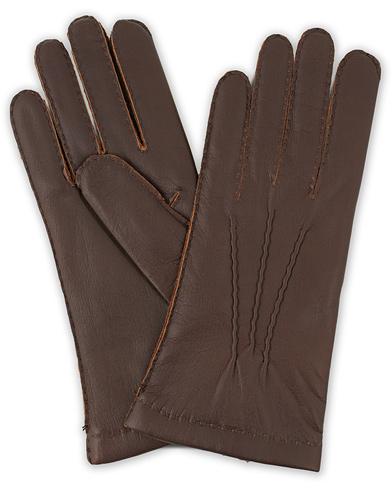 Hestra Elk Handsewn Cashmere Lined Glove Espresso Brown i gruppen Assesoarer / Hansker hos Care of Carl (14329011r)