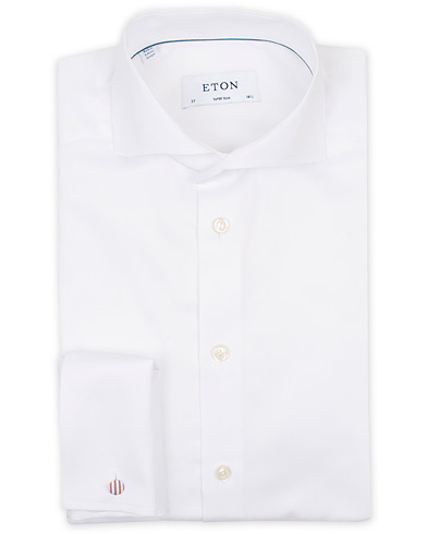 Eton Super Slim Fit Double Cuff Shirt White i gruppen Tøj / Skjorter / Formelle skjorter hos Care of Carl (14331411r)