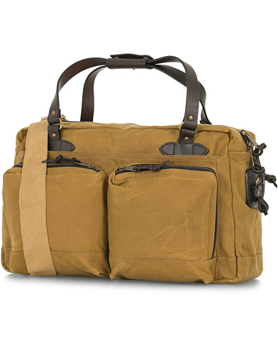 Filson 48-Hours Duffle Bag Dark Tan Canvas  i gruppen Accessoarer / Väskor / Weekendbags hos Care of Carl (14340010)