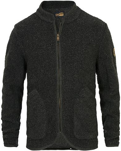 WACAY Norden Melange Wool Fleece Jacket Grey i gruppen Klær / Jakker / Tynne jakker hos Care of Carl (14340711r)