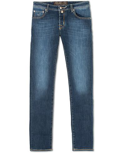 Jacob Cohën 622 Slim Jeans Mid  Blue i gruppen Kläder / Jeans / Smala jeans hos Care of Carl (14342211r)