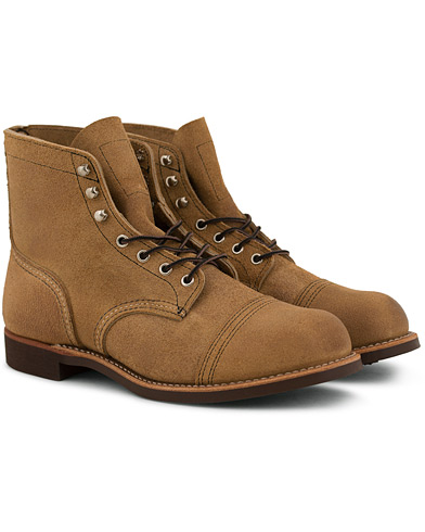 Red Wing Shoes Iron Ranger Boot Hawthorne Muleskin Leather i gruppen Sko / Støvler / Snørestøvler hos Care of Carl (14360211r)