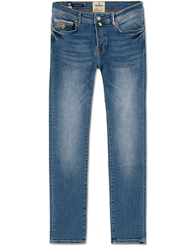 Morris Triumph Jeans Light Blue i gruppen Kläder / Jeans / Smala jeans hos Care of Carl (14361711r)