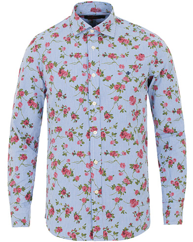 Morris New Barrel Printed Flower Shirt Blue i gruppen Kläder / Skjortor / Casual skjortor hos Care of Carl (14383011r)