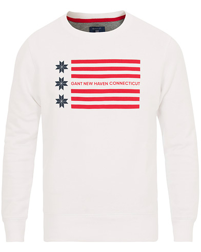 GANT American Flag Snow Flake Sweatshirt White i gruppen Kläder / Tröjor / Sweatshirts hos Care of Carl (14386811r)