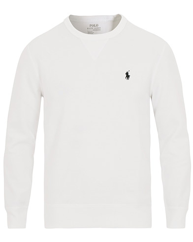 Polo Ralph Lauren Tech Crew Neck Sweatshirt White i gruppen Kläder / Tröjor / Sweatshirts hos Care of Carl (14509611r)