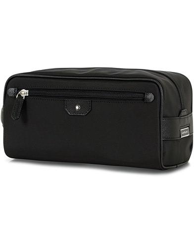 Montblanc Sartorial Jet Leather Wash Bag Black  i gruppen Assesoarer / Vesker / Toalettmapper hos Care of Carl (14524910)