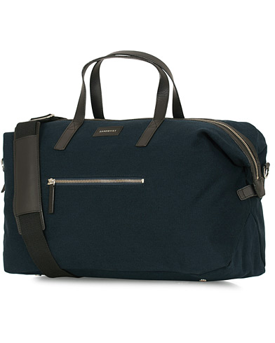 Sandqvist Holly Grand Organic Cotton Canvas Weekendbag Blue  i gruppen Assesoarer / Vesker / Weekendbager hos Care of Carl (14542010)