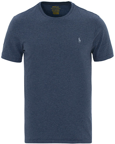 Polo Ralph Lauren Custom Fit Crew Neck Tee Rustic Navy Heather i gruppen Klær / T-Shirts / Kortermede t-shirts hos Care of Carl (14556011r)