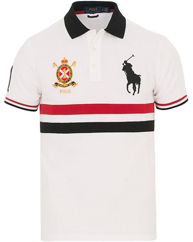Polo Ralph Lauren Custom Fit Broad Stripe Big Pony Polo White/Multi i gruppen Klær / Pikéer / Kortermet piké hos Care of Carl (14562411r)