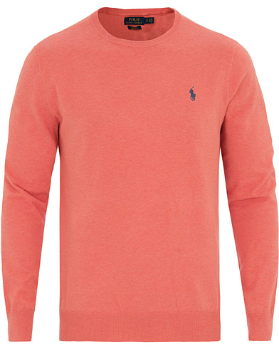 Polo Ralph Lauren Pima Cotton Crew Neck Pullover Dusty Peach Heather i gruppen Kläder / Tröjor / Pullovers / Rundhalsade pullovers hos Care of Carl (14565411r)