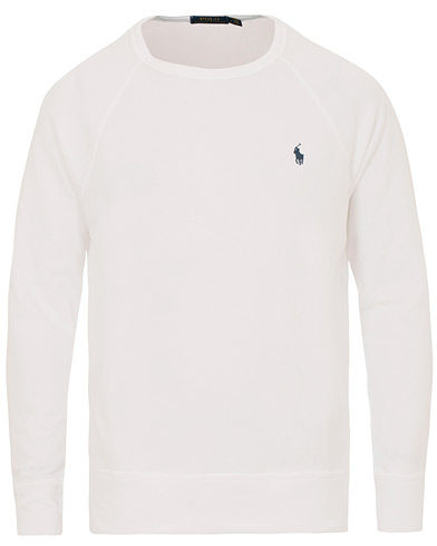 Polo Ralph Lauren Spa Terry Crew Neck Sweater White i gruppen Kläder / Tröjor / Sweatshirts hos Care of Carl (14566111r)
