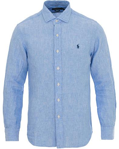 Polo Ralph Lauren Slim Fit Linen Estate Shirt Light Blue i gruppen Klær / Skjorter / Linskjorter hos Care of Carl (14569011r)