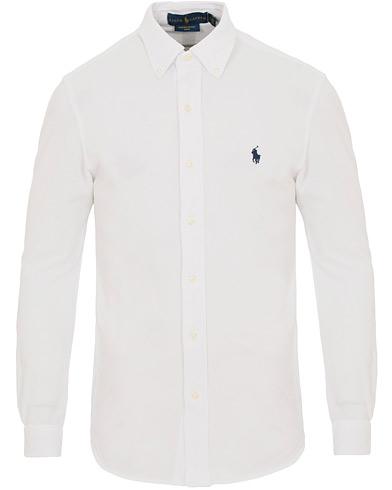 Polo Ralph Lauren Slim Fit Featherweight Shirt White i gruppen Tøj / Skjorter / Casual skjorter hos Care of Carl (14571111r)