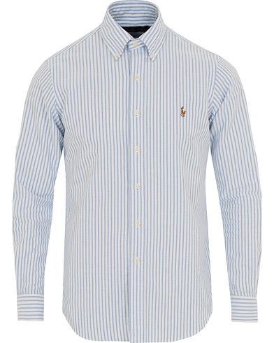 Polo Ralph Lauren Core Fit Oxford Stripe Button Down Shirt Blue/White i gruppen Klær / Skjorter / Casual / Oxfordskjorter hos Care of Carl (14572311r)