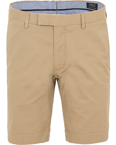 Polo Ralph Lauren Slim Fit Hudson Stretch Chino Shorts Classic Khaki i gruppen Kläder / Shorts / Chinosshorts hos Care of Carl (14575511r)