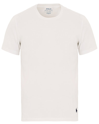 Polo Ralph Lauren Liquid Jersey Crew Neck Tee White i gruppen Kläder / T-Shirts / Kortärmade t-shirts hos Care of Carl (14582511r)