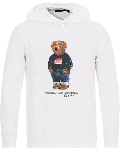 Polo Ralph Lauren Printed Bear Hoodie White i gruppen Kläder / Tröjor / Huvtröjor hos Care of Carl (14592311r)