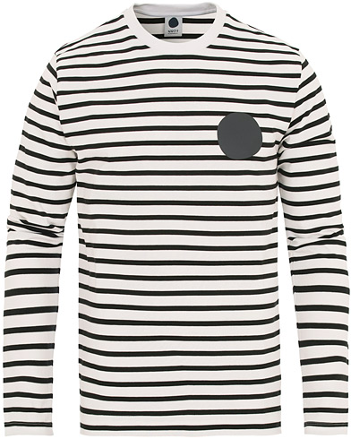 NN07 Enrico Stripe Crew Neck Sweatshirt Black i gruppen Kläder / Tröjor / Sweatshirts hos Care of Carl (14599311r)