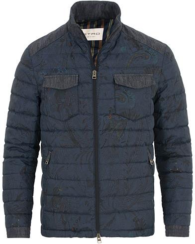 Etro Down Printed Paisley Jacket Navy i gruppen Klær / Jakker / Vatterte jakker hos Care of Carl (14601311r)