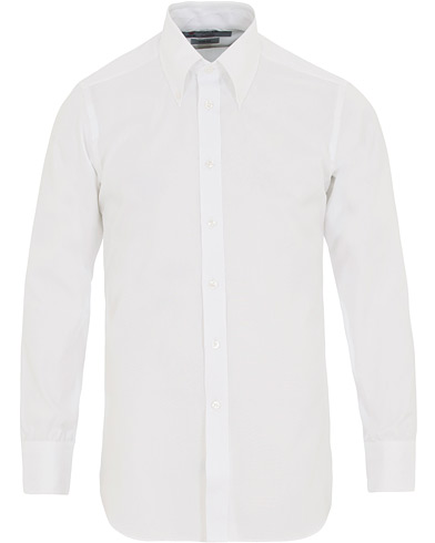 Turnbull & Asser Slim Fit Royal Oxford Button Down Shirt White i gruppen Klær / Skjorter / Casual / Oxfordskjorter hos Care of Carl (14607411r)