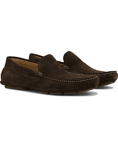GANT Austin Suede Moccasin Dark Brown i gruppen Skor / Bilskor hos Care of Carl (14614711r)