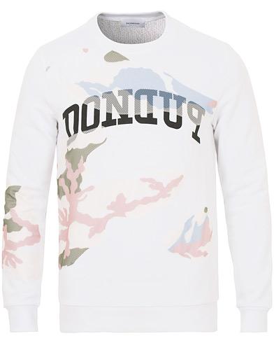 Dondup Camo Print Crew Neck Sweatshirt White i gruppen Kläder / Tröjor / Sweatshirts hos Care of Carl (14629511r)