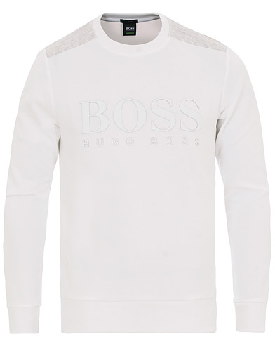 BOSS Athleisure Salbo Sweatshirt White i gruppen Kläder / Tröjor / Sweatshirts hos Care of Carl (14645511r)