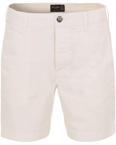 Morris Light Twill Shorts White i gruppen Klær / Shorts / Chinosshorts hos Care of Carl (14679011r)