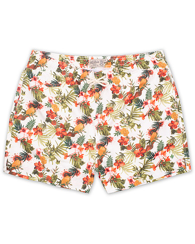 Morris Flower Swimshorts White i gruppen Klær / Badeshorts hos Care of Carl (14679411r)
