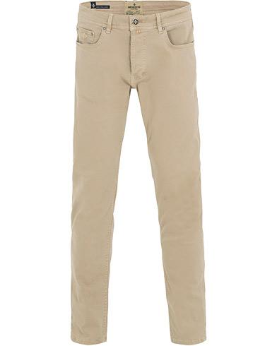Morris James Texture 5-Pocket Trousers Khaki i gruppen Kläder / Byxor / 5-ficksbyxor hos Care of Carl (14680611r)