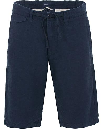 GANT Relax Linen Shorts Classic Blue i gruppen Klær / Shorts / Linshorts hos Care of Carl (14696811r)