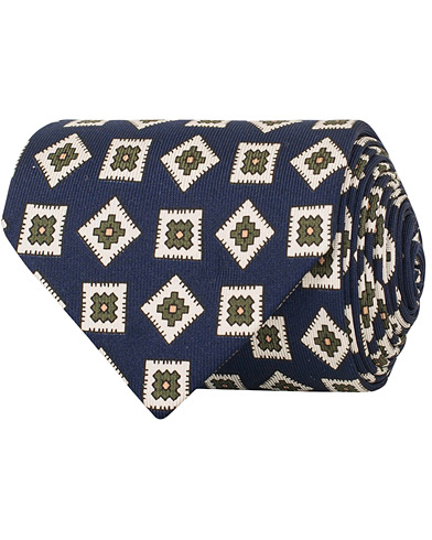 Drake's Silk Square 8 cm Tie Navy  i gruppen Accessoarer / Slipsar hos Care of Carl (14715110)