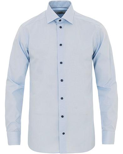 Eton Slim Fit Poplin Structure Shirt Light Blue i gruppen Tøj / Skjorter / Casual skjorter hos Care of Carl (14722511r)