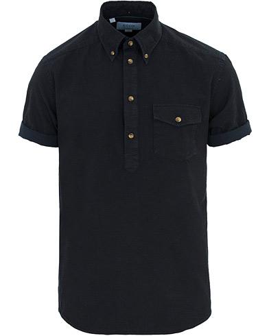 Eton Slim Fit Popover Short Sleeve Shirt Dark Washed i gruppen Tøj / Skjorter / Kortærmede skjorter hos Care of Carl (14723311r)