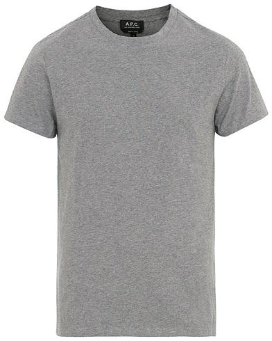 A.P.C Jimmy T-shirt Grey i gruppen Klær / T-Shirts / Kortermede t-shirts hos Care of Carl (14755911r)