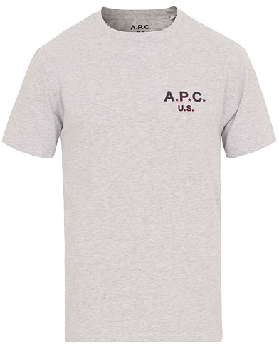 A.P.C Flag H Tee Grey i gruppen Tøj / T-Shirts / Kortærmede t-shirts hos Care of Carl (14758611r)