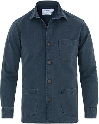 Schnayderman's Overshirt Dyed One Dark Blue i gruppen Tøj / Skjorter / Casual / Overshirts hos Care of Carl (14760411r)