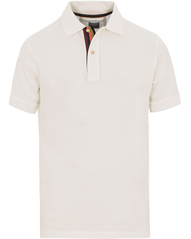 Paul Smith Placket Stripe Polo White i gruppen Klær / Pikéer / Kortermet piké hos Care of Carl (14808911r)