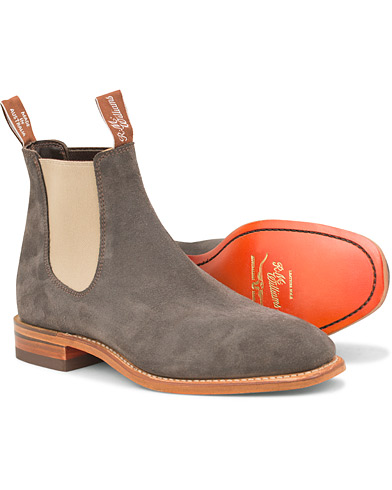 R.M.Williams Craftsman Z-Sole  Gunmetal Grey Suede i gruppen Sko / Støvler / Chelsea boots hos Care of Carl (14814311r)