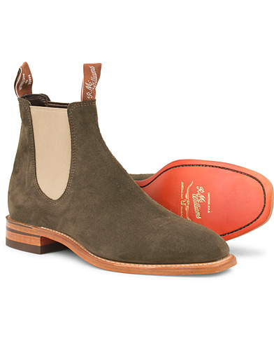 R.M.Williams Craftsman Z-Sole  Khaki Suede i gruppen Sko / Støvler / Chelsea boots hos Care of Carl (14814411r)